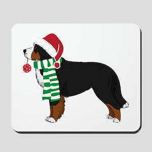 Christmas Bernese Mt Dog Mousepad