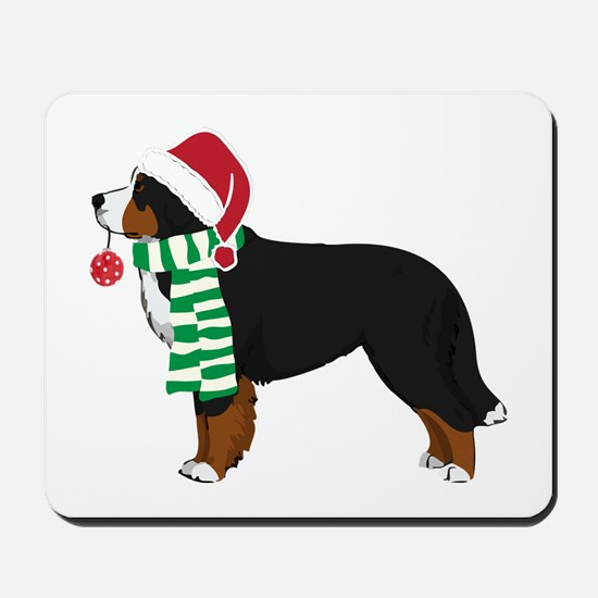 Christmas Bernese Mt Dog Mousepad