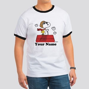 Peanuts Flying Ace Personalized Ringer T