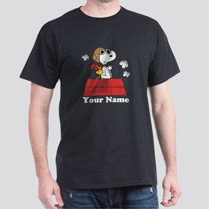 Peanuts Flying Ace Personalized Dark T-Shirt