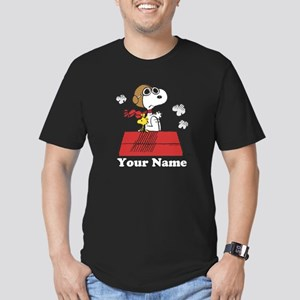 Peanuts Flying Ace Per Men's Fitted T-Shirt (dark)