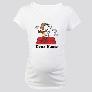 Peanuts Flying Ace Personalized Maternity T-Shirt