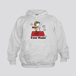 Peanuts Flying Ace Personalized Kids Hoodie