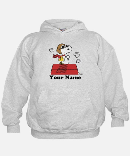 Peanuts Flying Ace Personalized Hoodie