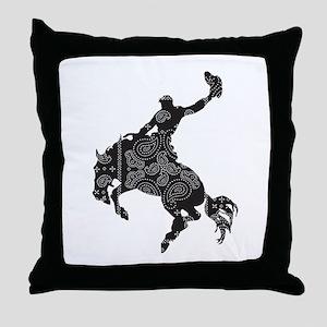 Bandana Bronco Throw Pillow