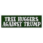 Tree Huggers Against Trump Bumper Sticker
