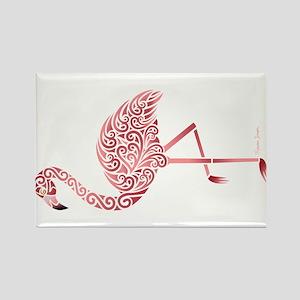 Funky Tribal Flamingo Magnets