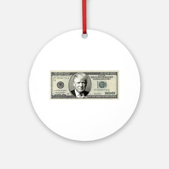 Trump Bill Round Ornament