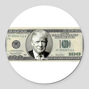 Trump Bill Round Car Magnet