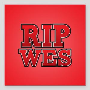 """HTGAWM RIP Wes Square Car Magnet 3"""" x 3"""""""