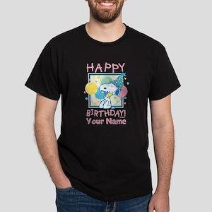 Peanuts Happy Birthday Pink Personali Dark T-Shirt