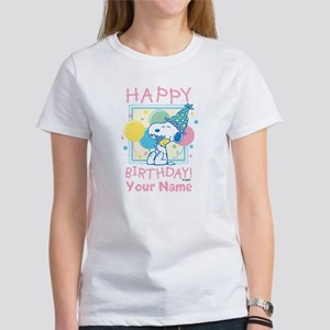 Peanuts Happy Birthday Pink Person Women's T-Shirt