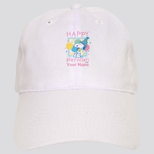 Peanuts Happy Birthday Pink Personalized Cap