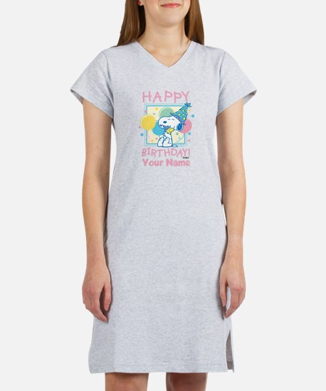 Peanuts Happy Birthday Pink Per Women's Nightshirt