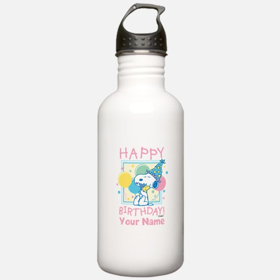 Peanuts Happy Birthday Water Bottle