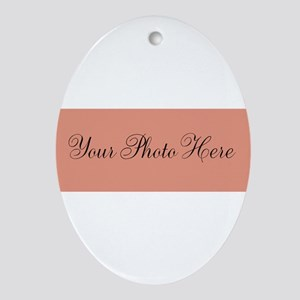 Your Photo Here Oval Ornament