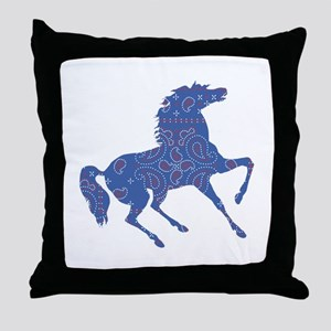 Bandana Rodeo Horse Throw Pillow