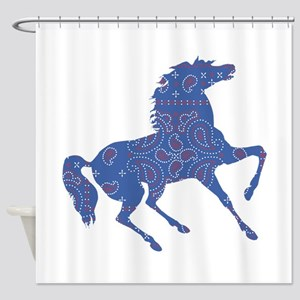 Bandana Rodeo Horse Shower Curtain
