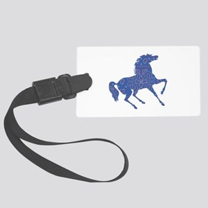 Bandana Rodeo Horse Luggage Tag