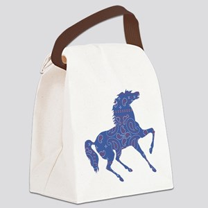 Bandana Rodeo Horse Canvas Lunch Bag