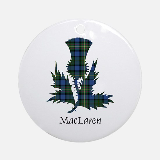 Thistle - MacLaren Ornament (Round)