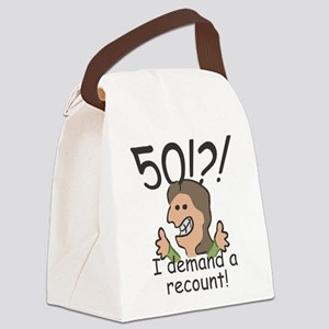 Recount 50th Birthday Canvas Lunch Bag