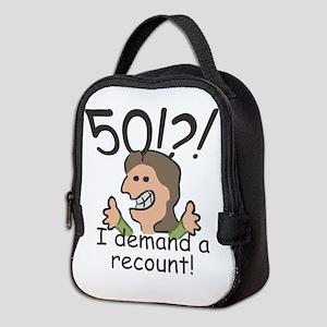 Recount 50th Birthday Neoprene Lunch Bag