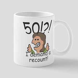 Recount 50th Birthday Mug
