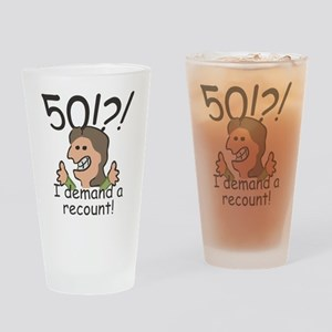 Recount 50th Birthday Drinking Glass