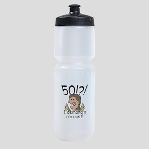 Recount 50th Birthday Sports Bottle