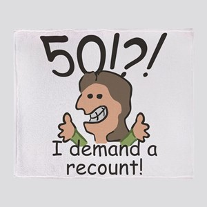 Recount 50th Birthday Throw Blanket
