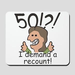 Recount 50th Birthday Mousepad