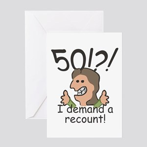 Recount 50th Birthday Greeting Card