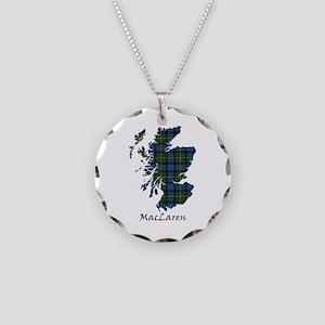 Map - MacLaren Necklace Circle Charm