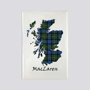 Map - MacLaren Rectangle Magnet
