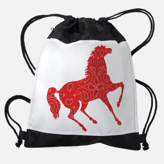 Bandana Rodeo Horse Drawstring Bag