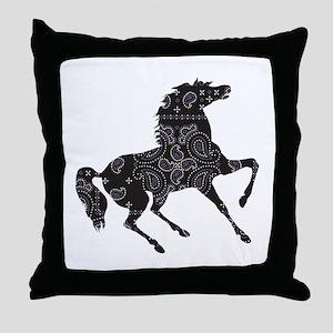 Bandana Rodeo Horse Throw Pillow