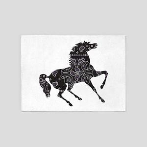 Bandana Rodeo Horse 5'x7'Area Rug