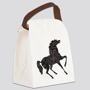 Bandana Rodeo Horse Canvas Lunch Bag