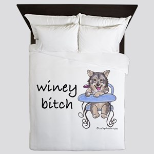 Swedish Vallhund Winey Bitch Queen Duvet