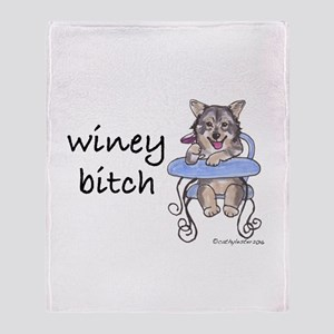Swedish Vallhund Winey Bitch Throw Blanket