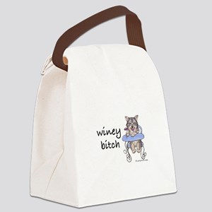 Swedish Vallhund Winey Bitch Canvas Lunch Bag
