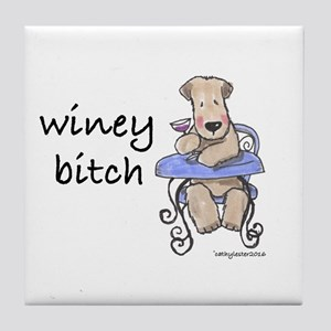 Wheaten Terrier Winey Bitch Tile Coaster