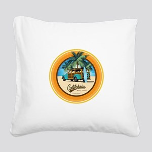 Woodie in California Square Canvas Pillow
