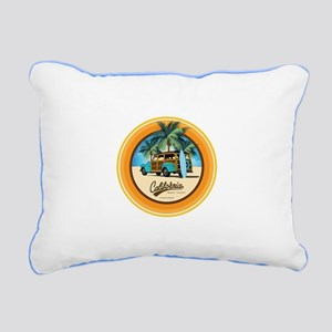 Woodie in California Rectangular Canvas Pillow