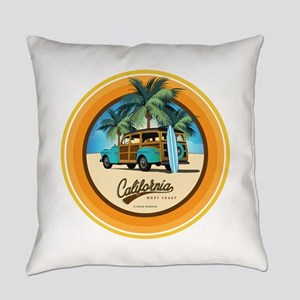 Woodie in California Everyday Pillow