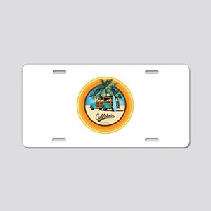Woodie in California Aluminum License Plate