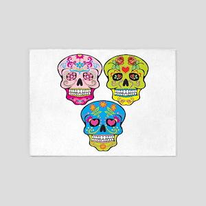 Sugar Skulls 5'x7'Area Rug