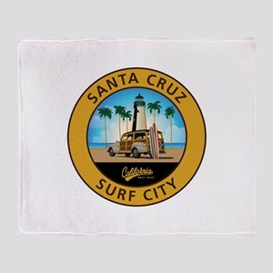 Santa Cruz Surf City Woodie Throw Blanket