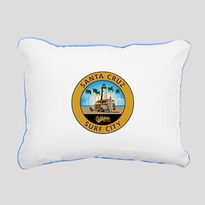 Santa Cruz Surf City Woo Rectangular Canvas Pillow